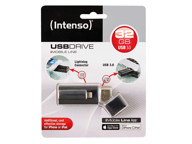 INTENSO USB STICK 3.0 32GB SCHWARZ 3535480 Imobile Line 1