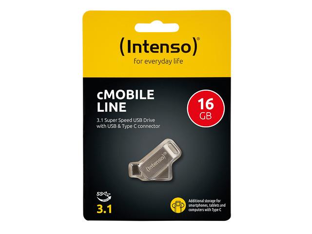 INTENSO CMOBILE LINE USB STICK 16GB 3536470 70MB/s USB 3.0 Type C 1
