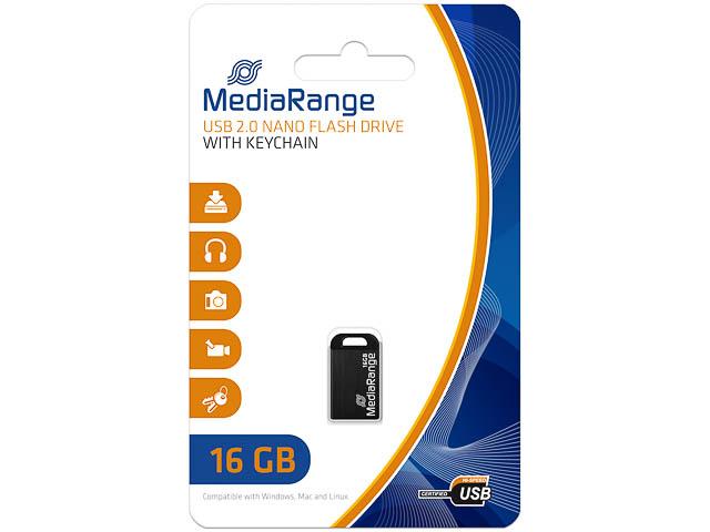 MEDIARANGE NANO FLASH DRIVE 16GB MR921 USB 2.0 black 1