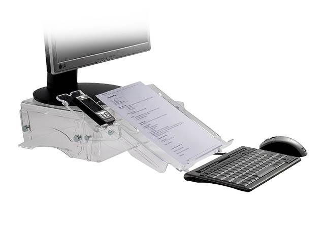 BNEQDM150 BAKKER MONITORSTAENDER Q-deskmanager 150 5Stufen transparent 1