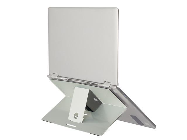 R-GO RISER ATTACHABLE LAPTOP STAND RGORIATSI aluminium 4positions silver 1