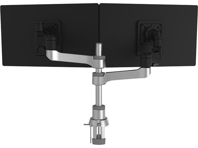 "R-GO CAPARO 4 TWIN MONITORARM RGOVLCA4TWSI fuer zwei Monitore bis 26"" 1"