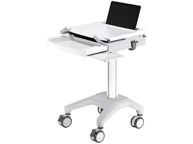 """THE NEWSTAR MEDICAL LAPTOP CART WHITE MED-M200 10-17"""" 5kg 1"""