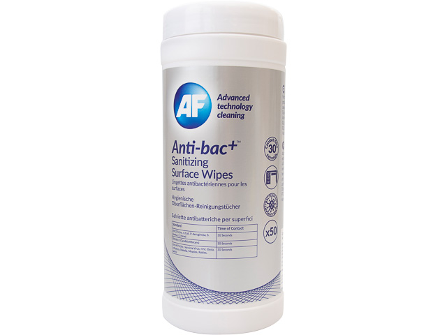 ABSCW50T AF ANTI-BAC+ DISPENSER 50pcs. surface wipes 1