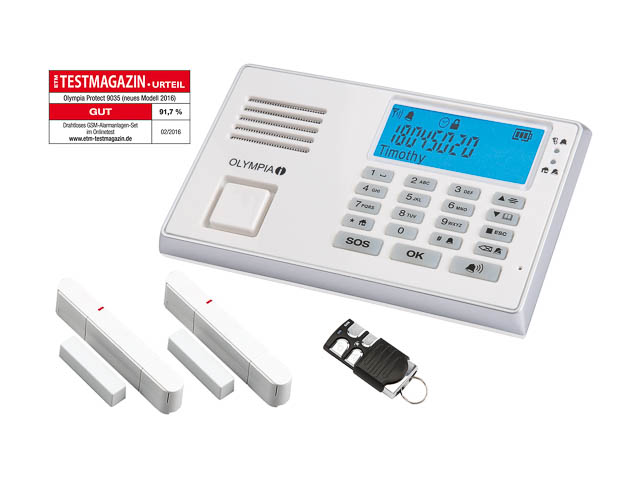 OLYMPIA PROTECT 9035 GSM ALARMANLAGE 5961 Notruf-/Freisprechfunktion drahtlos 1
