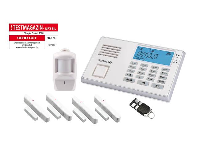 OLYMPIA PROTECT 9066 GSM ALARMANLAGE 5958 Notruf-/Freisprechfunktion drahtlos 1