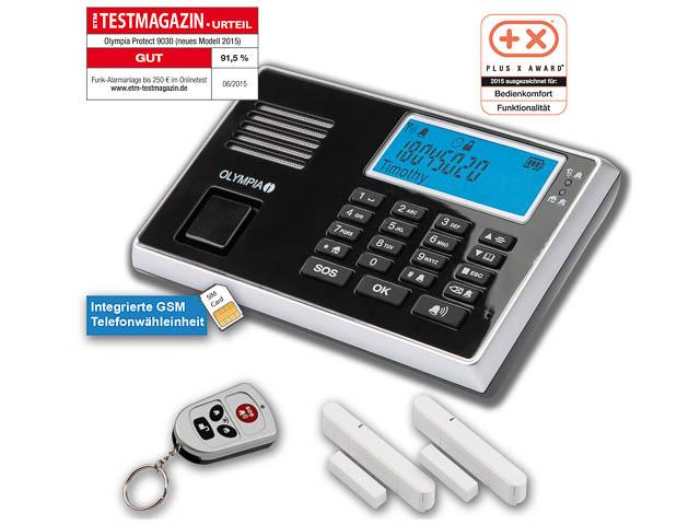 OLYMPIA PROTECT 9030 GSM ALARMANLAGE 5903 Notruf-/Freisprechfunktion drahtlos 1