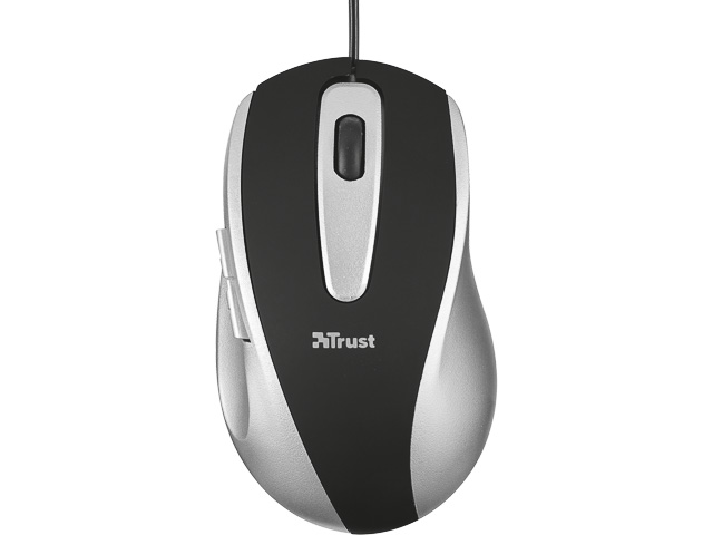 TRUST EASYCLICK MOUSE GREY 16535 with cable 1