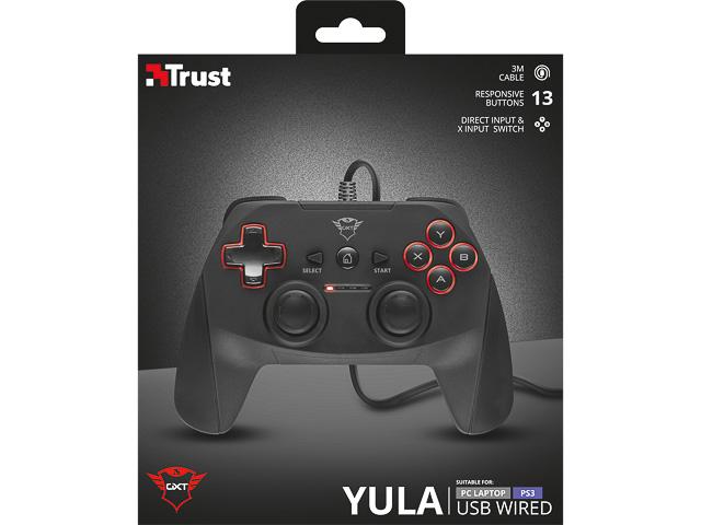 TRUST GXT540 YULA GAMEPAD 20712 schwarz mit Kabel 1