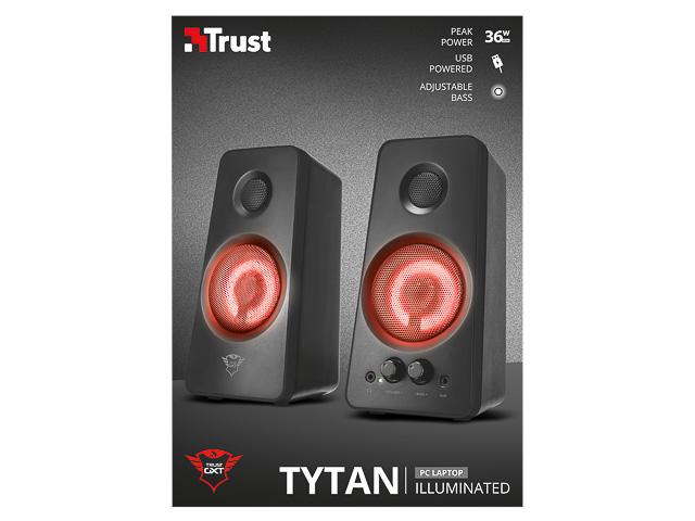 TRUST GXT608 TYTAN 2.0 LAUTSPRECHER SET 21202 schwarz LED Beleuchtung 1