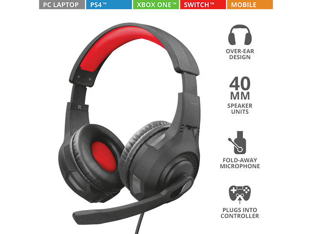 TRUST GXT307 RAVU GAMING HEADSET 22450 black with microphone 1