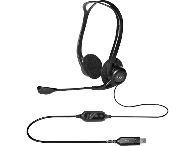 LOGITECH 960 HEADSET USB 981-000100 cable/stereo 1