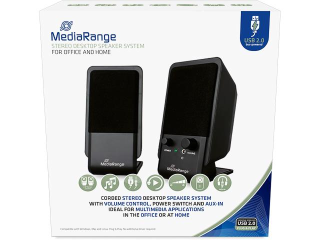 MEDIARANGE COMPACT DESKTOP LAUTSPRECHER MROS352 USB 2.0 schwarz 1