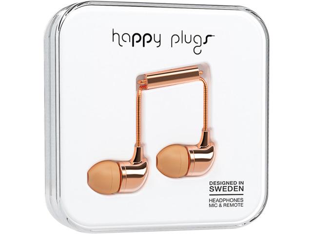 HAPPY PLUGS IN-EAR KOPFHOERER ROSE-GOLD 7738 mit Kabel 3,5mm Stecker 1
