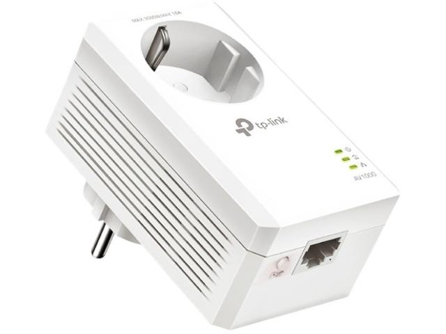 TP-LINK AV1000 GIGABIT POWERLINE ADAPTER TL-PA7017P KIT with power outlet 1