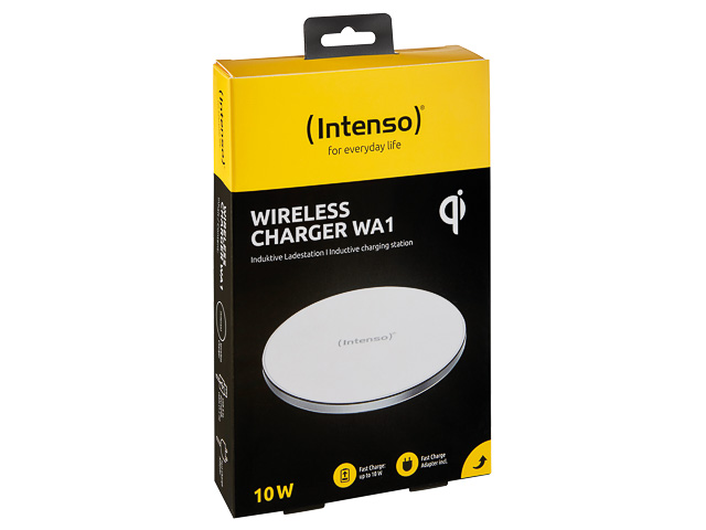 INTENSO WIRELESS LADEGERAET WA1 7410512 inkl. Adapter + 1,5m Ladekabel 1