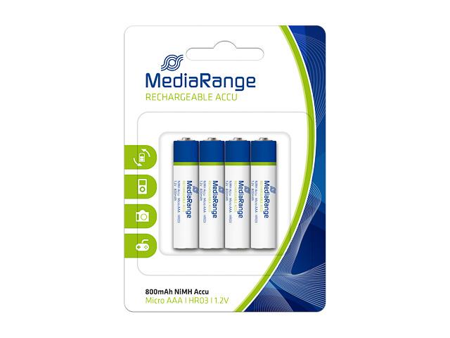 MEDIARANGE ACCU MICRO BATTERIES (4) 1,2V MRBAT120 HR03 rechargeable AAA 1