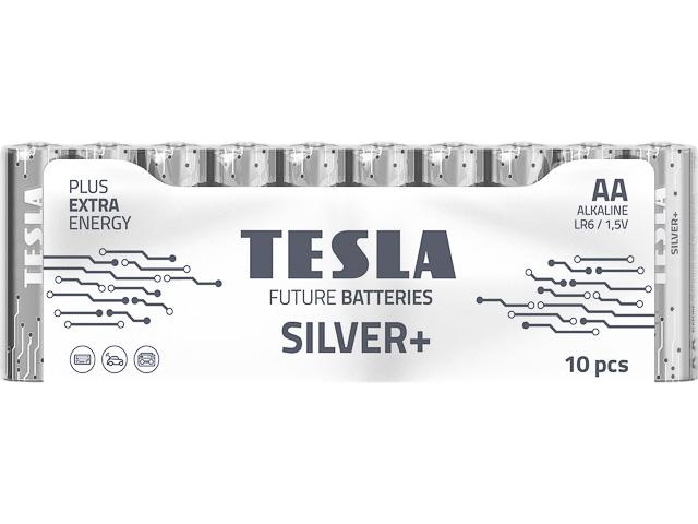 TESLA SILVER MIGNON BATTERIES (10) 8594183392318 LR06 Alkaline AA 1,5V 1
