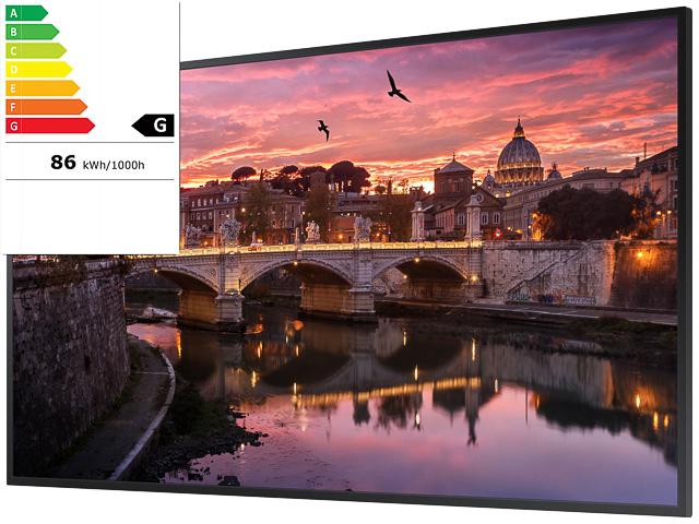 "SAMSUNG QB50R 50"" PROFESSIONAL DISPLAY LH50QBREBGCX/EN 127cm/HDMI UHD 24/7 E 1"