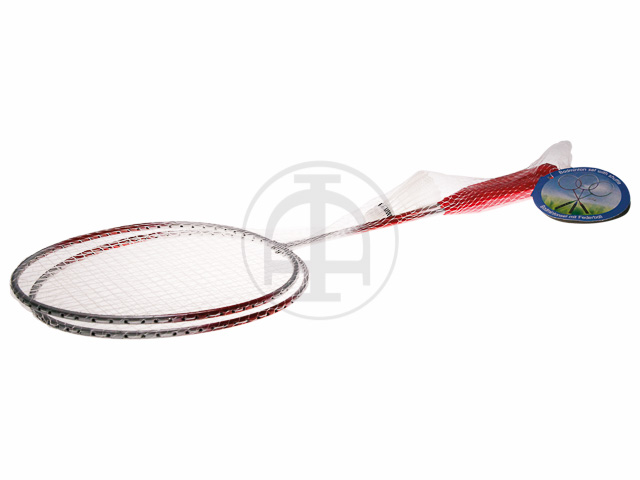 BADMINTON-SET 2 Schläger / 1 Federball 1
