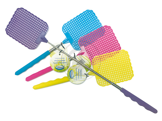 TELESKOP FLIEGENKLATSCHE 26-72cm verschiedene Farben cmy+violett 1