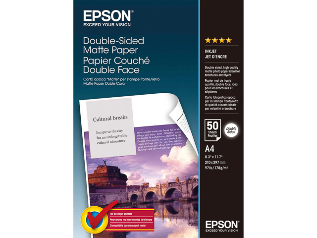 C13S041569 EPSON FOTOPAPIER A4 50Blatt 178gr beidseitig matt 1
