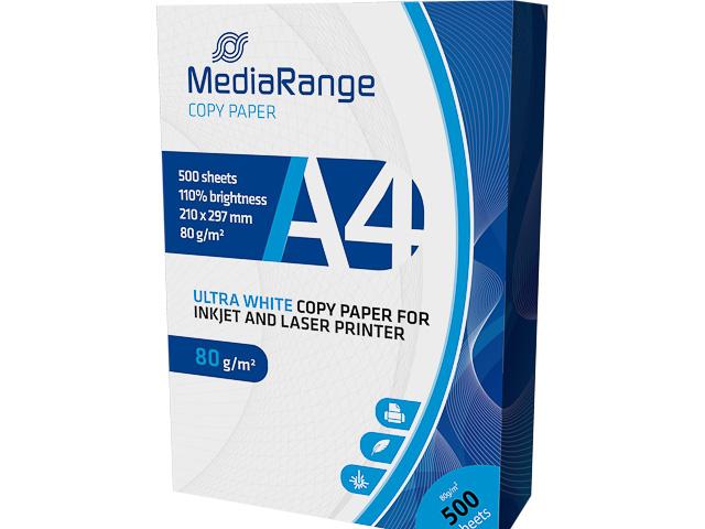 MEDIARANGE COPY PAPER A4 WHITE MRINK110 500sheets 80gr 1