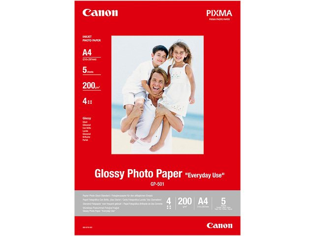 GP501 CANON PHOTO PAPER A4 0775B001 100sheet 200gr glossy 1
