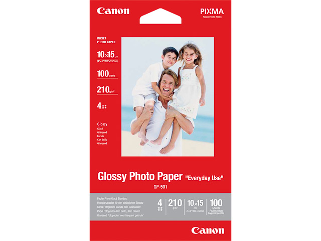 GP501 CANON PHOTO PAPER 10x15cm 0775B003 100sheets 200gr glossy 1