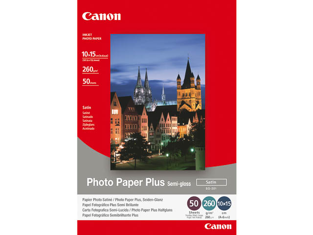 SG201 CANON PHOTO CARDS 10x15cm 1686B015 50sheets 260g satin 1