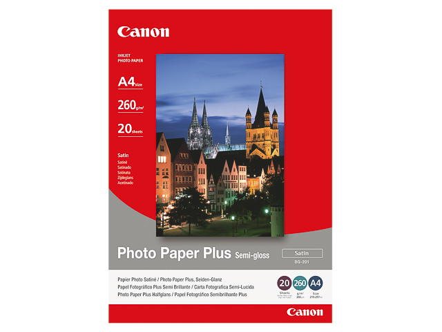 SG201 CANON PHOTO PAPER A4 1686B021 20sheets 260gr glossy 1