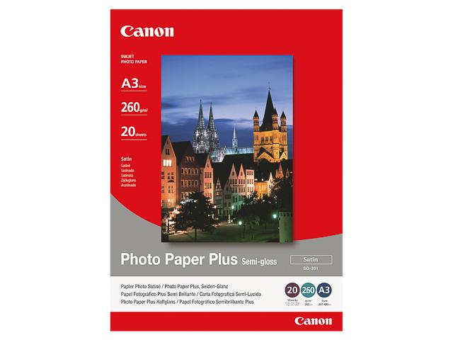 SG201 CANON FOTOPAPIER A3 1686B026 20Blatt 260gr glaenzend 1