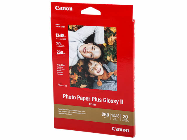 PP201 CANON PHOTO PAPER 13x18cm 2311B018 20sheets 260gr glossy 1