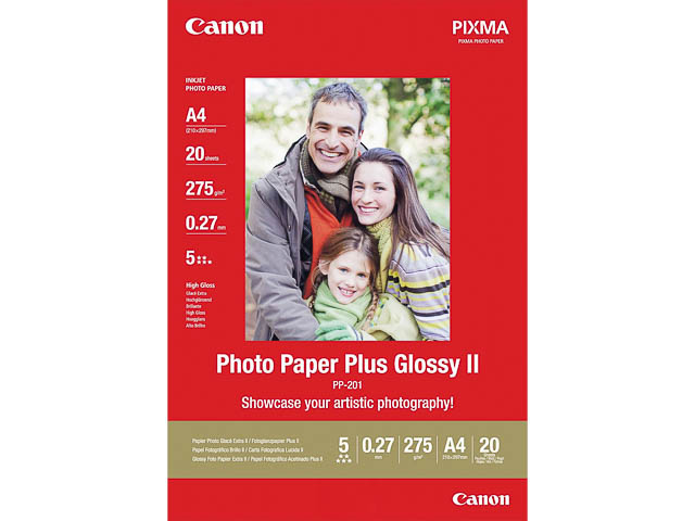 PP201 CANON PHOTO PAPER A4 2311B019 20sheets 265gr glossy 1