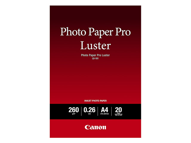 LU101 CANON PHOTO PAPER A4 6211B006 20sheets 260gr glossy 1