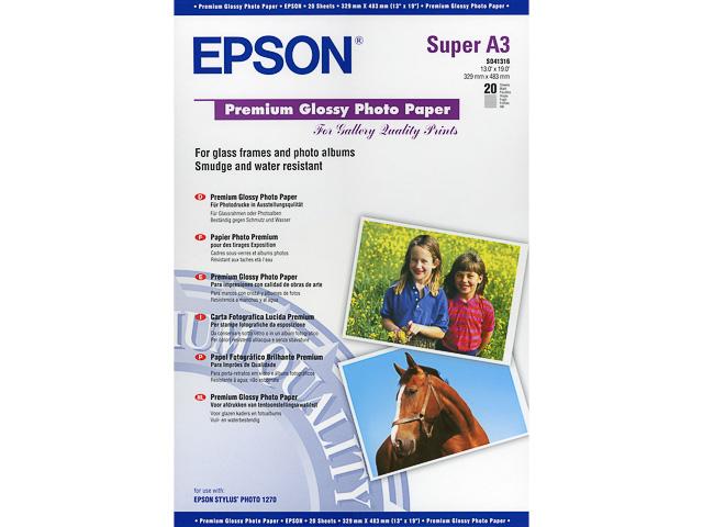 C13S041316 EPSON FOTOPAPIER A3+ 20Blatt 255gr premium glaenzend 1