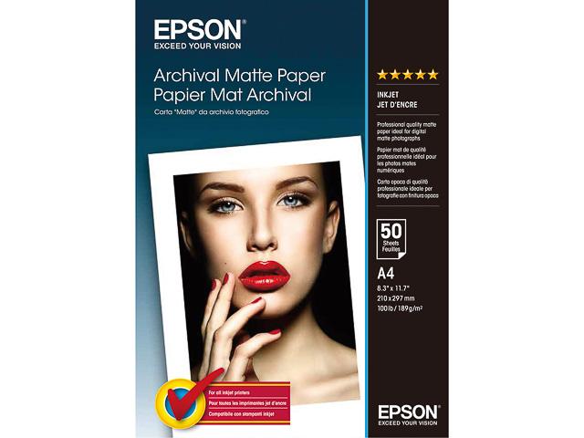 C13S041342 EPSON FOTOPAPIER A4 50Blatt 192gr matt 1