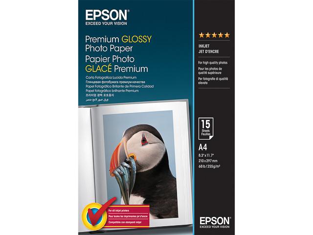 C13S042155 EPSON FOTOPAPIER A4 15Blatt 255gr glaenzend 1
