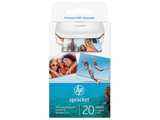 W4Z13A HP SNAPSHOT FOTOPAPIER 5x7,6cm 20Blatt 290gr selbstklebende Rueckseite 1