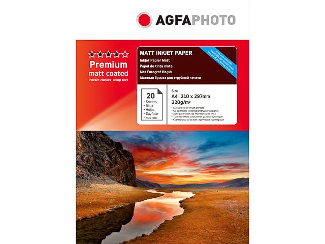 AP22020A4MDUO AP TINTENSTRAHL-PAPIER A4 20Blatt 220gr doppels. matt Karton Verp. 1
