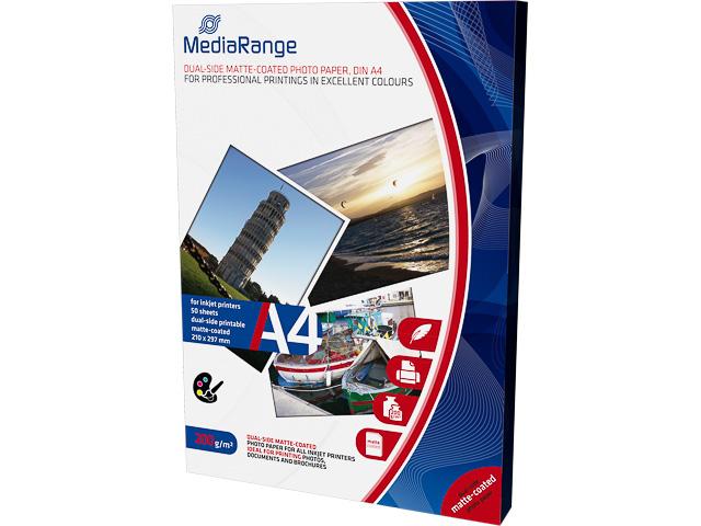 MEDIARANGE PHOTO PAPER A4 WHITE MRINK102 50sheets 200gr matte 1