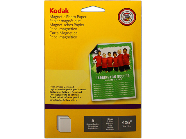185Z001360 KODAK MAGNETIC PHOTO PAPER 5sheets A6 10x15cm 1