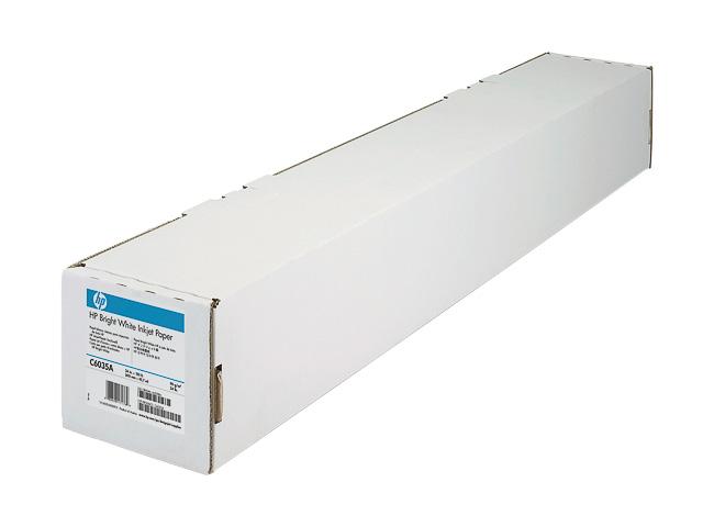 """C6035A HP INKJET PAPIER 24"""" 610mmx45,7m 90gr hochweiss 1"""
