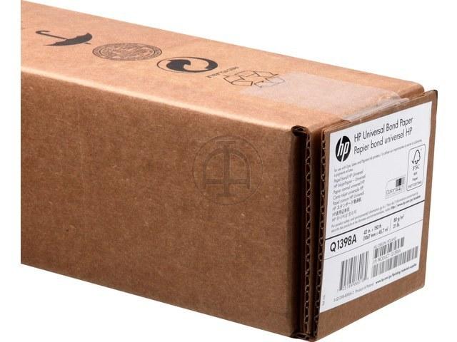 "Q1398A HP INKJET PAPER 42"" 1067mmx45,7m 80gr 1"