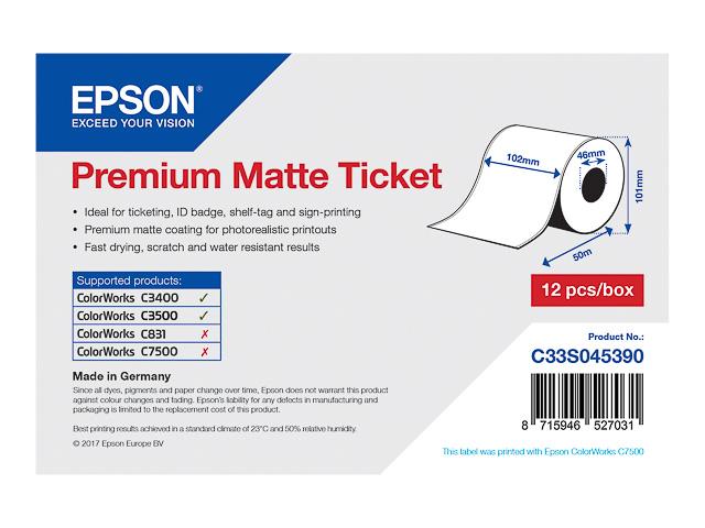 C33S045390 EPSON LABEL ROLL 102x50m continuous label premium matte 1