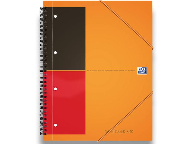 OXFORD MEETINGBOOK A4+ ORANGE 100104296 80Blatt 80gr liniert 6mm 1