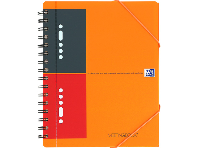 OXFORD MEETINGBOOK A5+ ORANGE 100103453 80Blatt 80gr liniert 6mm 1