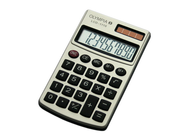 OLYMPIA LCD1110 CALCULATOR SILVER 941901000 10digits display 1