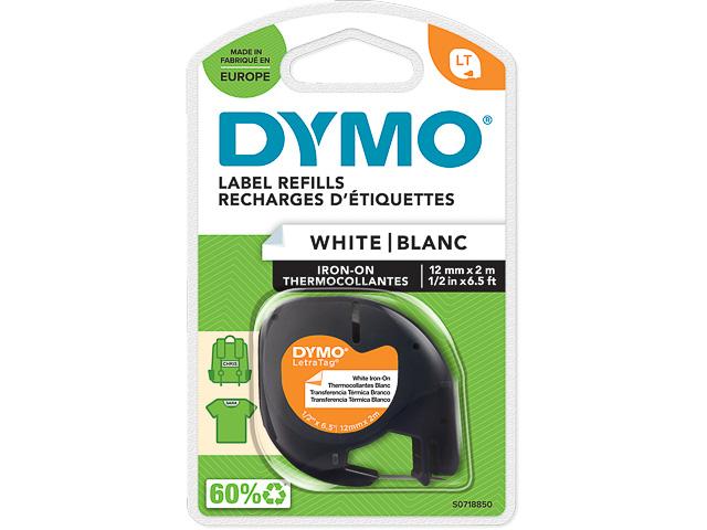 S0718850 DYMO 12mm BLACK-WHITE tape 2m 1